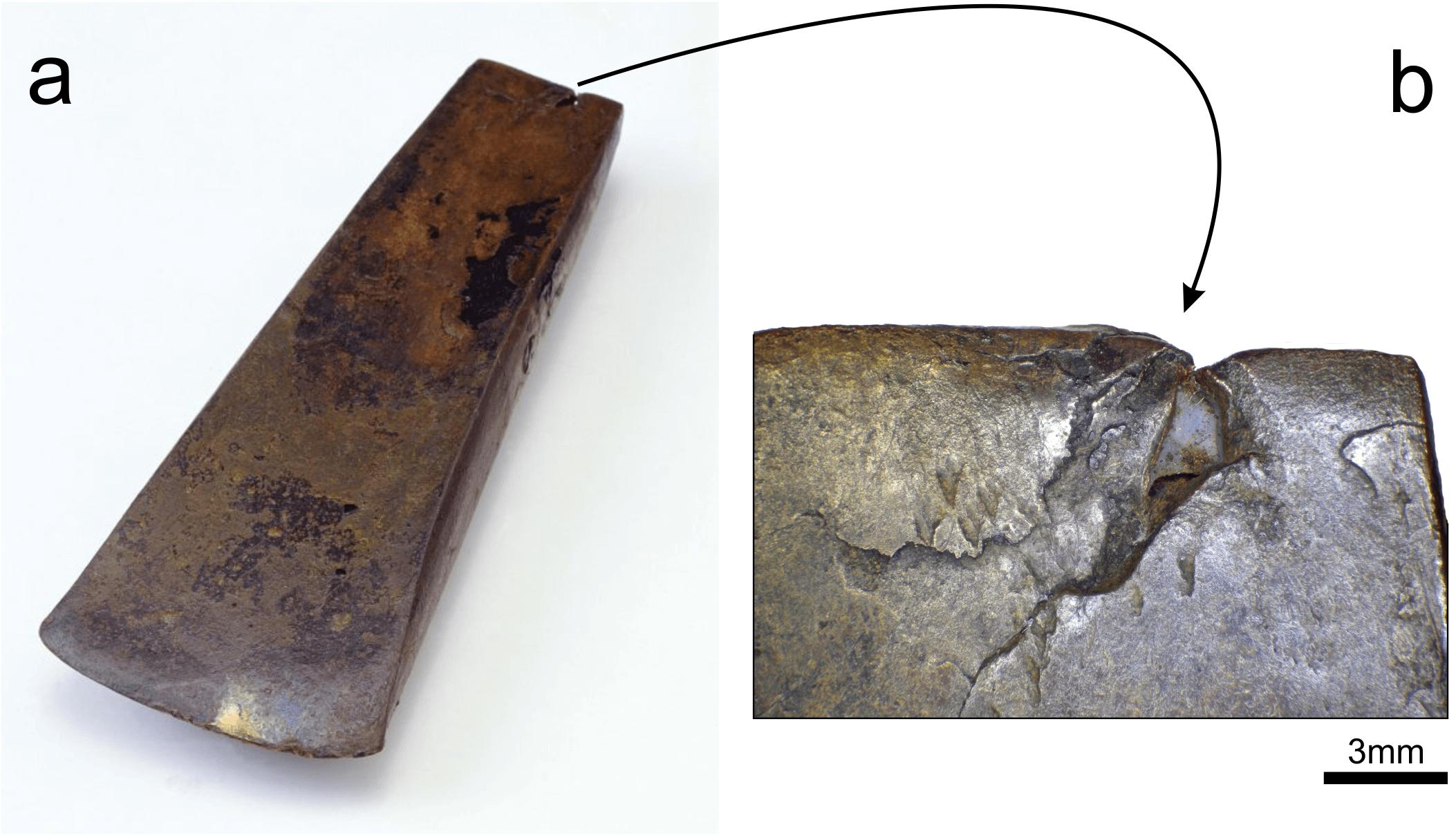 Segni di usura sull' ascia di Ötzi