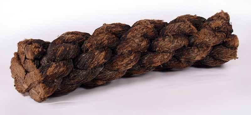 Pezzo di cordame del XVI secolo scoperto a bordo della Mary Rose