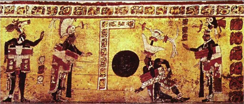 Raffigurazione maya del gioco della palla