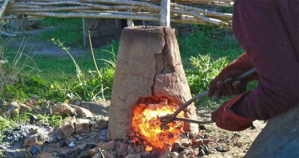 Estrazione della bluma dal forno
