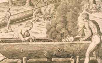 Canoa a scafo monossilo