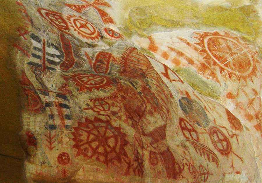 Una delle pitture rupestre Chumash