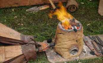 Replica di forno per la produzione di ferro