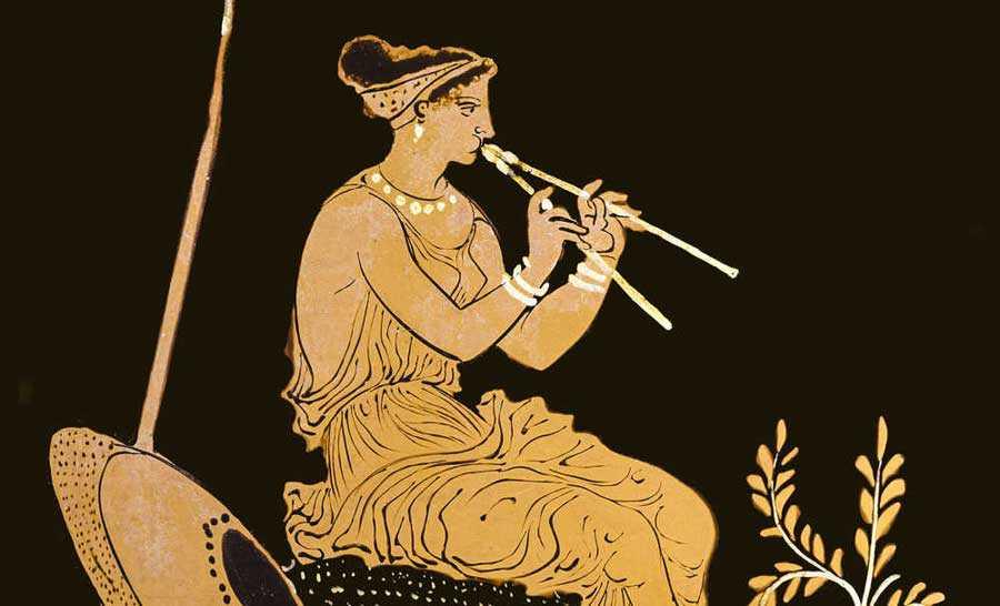 Ascolta l' aulòs dell' Antica Grecia