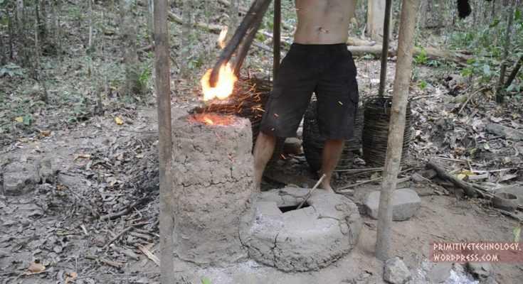 Forno primitivo, basso fuoco
