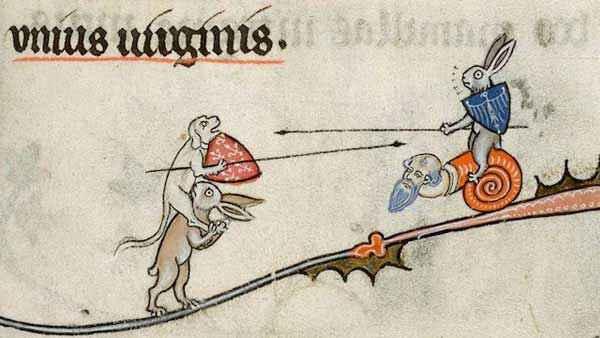 Conigli e lumache nei manoscritti medievali