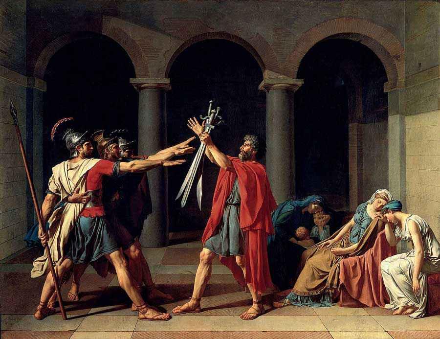 mito del saluto romano