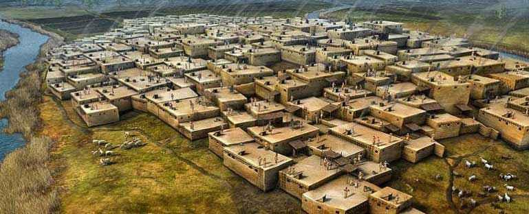 Le più grandi città dell' antichità: Çatalhöyük