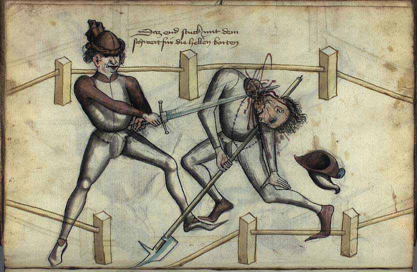 Illustrazione da uno dei manoscritti di Hans Talhoffer