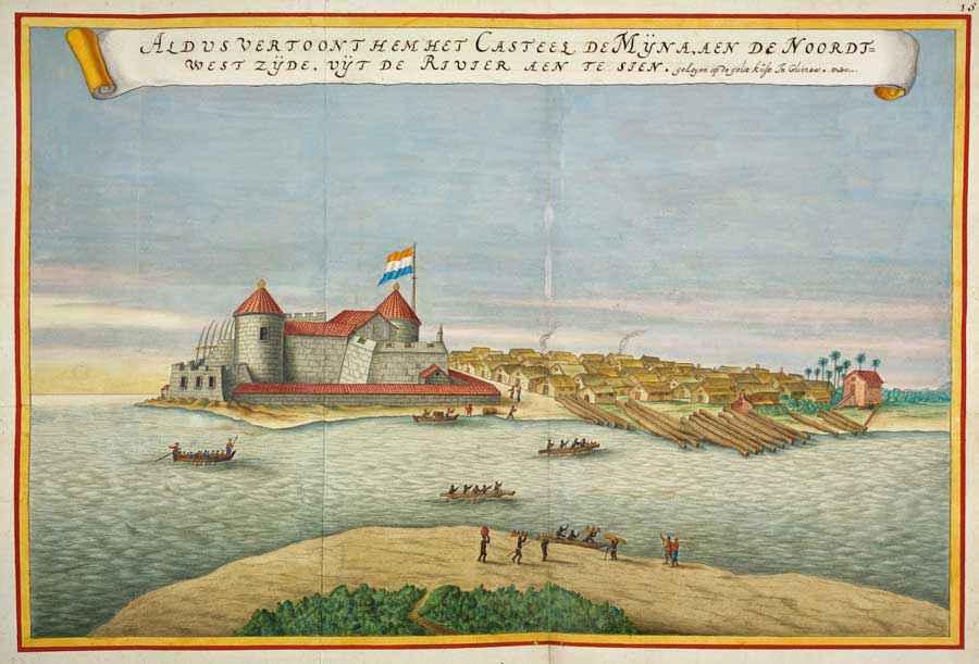 Forte di Elmina nell'atlante di Joan Blaeu (Atlas Novus, 1635)