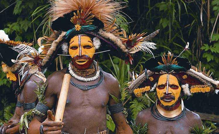 Tribù della papua Nuova Guinea