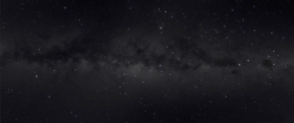 Simulazione della Via Lattea vista ad occhio nudo