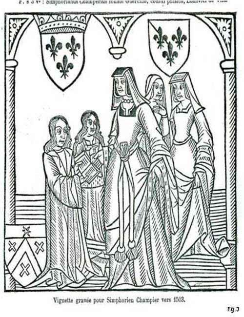 Anna di Francia riceve il La nef des dames vertueuses da Symphorien Champier