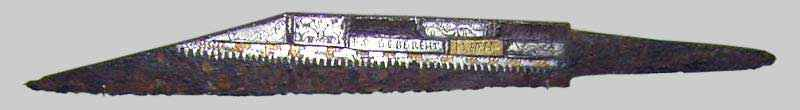 Seax a lama larga e dorso troncato, circa VIII secolo