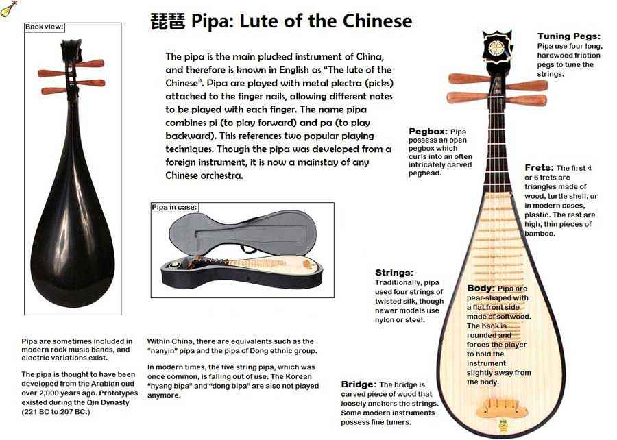 Pipa strumento musicale cinese