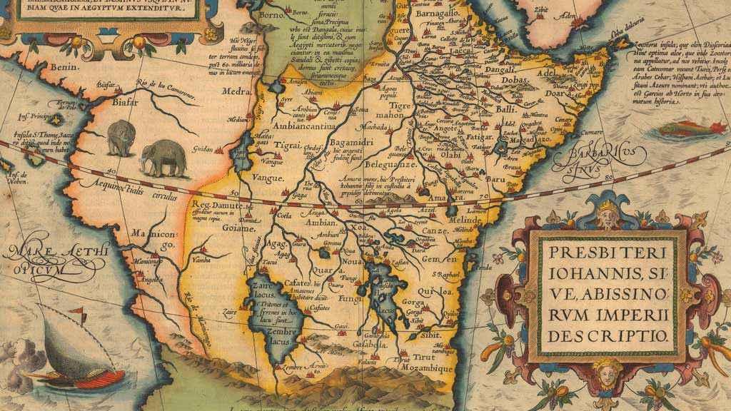 Mappa risalente alla seconda metà del XVI secolo che mostra la cira la presenza del Prete Gianni in Africa