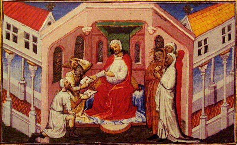 """Il re keraita Toghrul raffigurato come Prete Gianni nell'opera """"Le Livre des Merveilles"""" del XV secolo"""