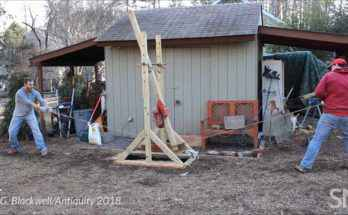 Ricostruzione di una sega a pendolo micenea