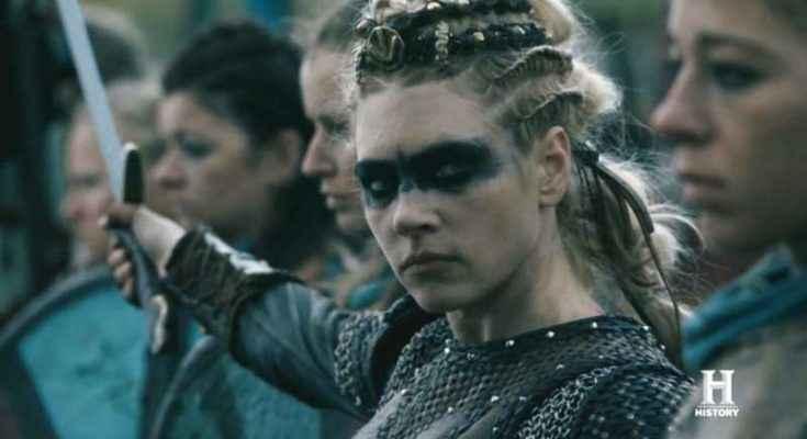 Lagertha e le skjaldmær nella serie Vikings