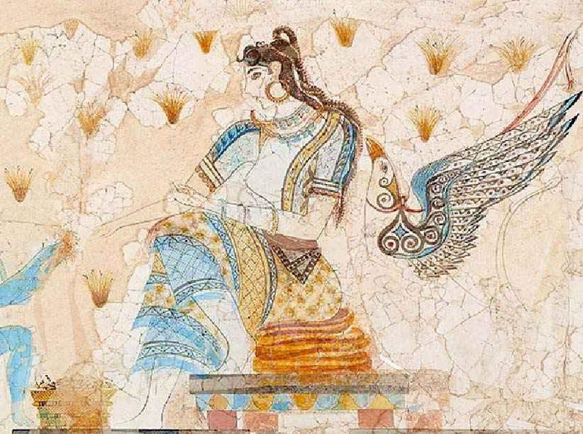 La dea cretese preposta alla supervisione della raccolta di zafferano