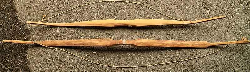 """forma di un arco """"self bow"""""""