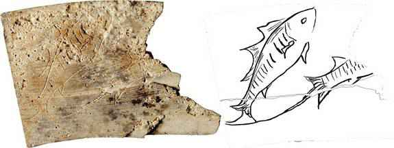 Simbolo dei Pesci nel frammento della tavola astrologica croata
