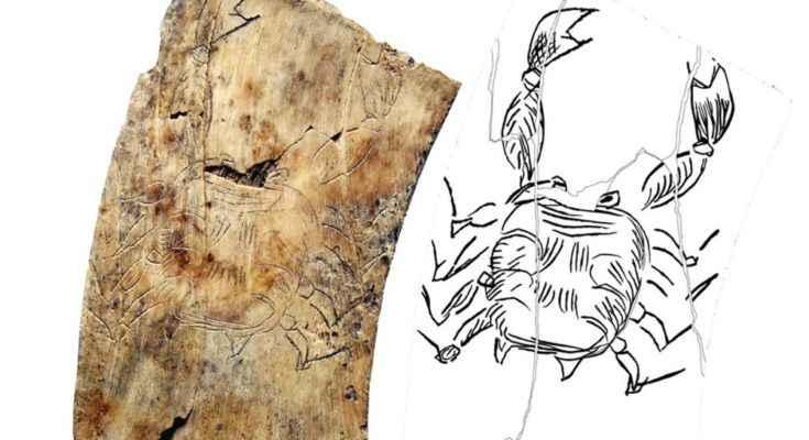 Simbolo del Cancro nel frammento della tavola astrologica croata