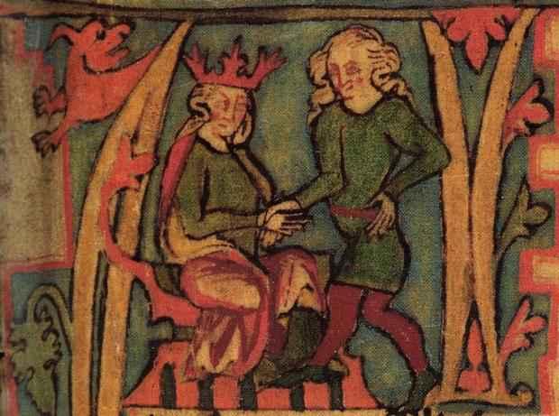 Re Harald dal manoscritto islandese Flateyjarbók del XIV secolo