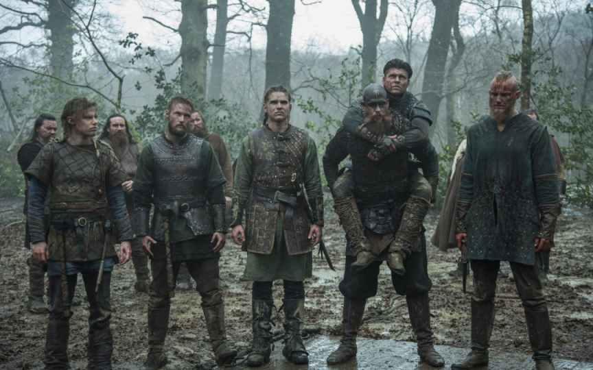 Bjorn e i suoi fratelli nella serie televisiva Vikings