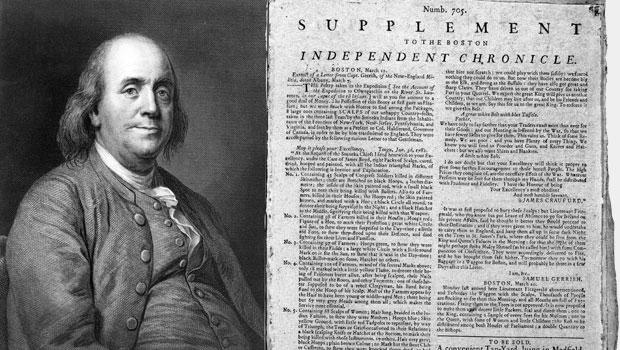 Anche Benjamin Franklin contribuì alla diffusione di fake news (più avanti nel post i dettagli)