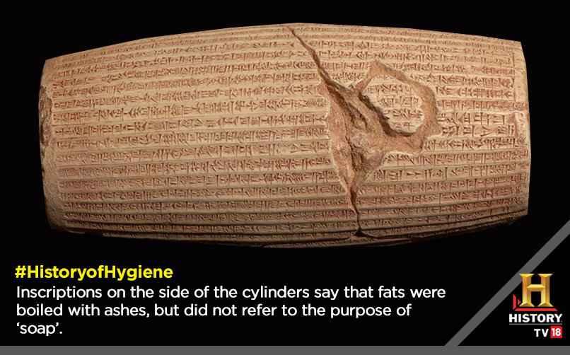 In questa tavoletta di 4.800 anni fa sono riportate le istruzioni per la bollitura di grassi e ceneri per realizzare sapone.