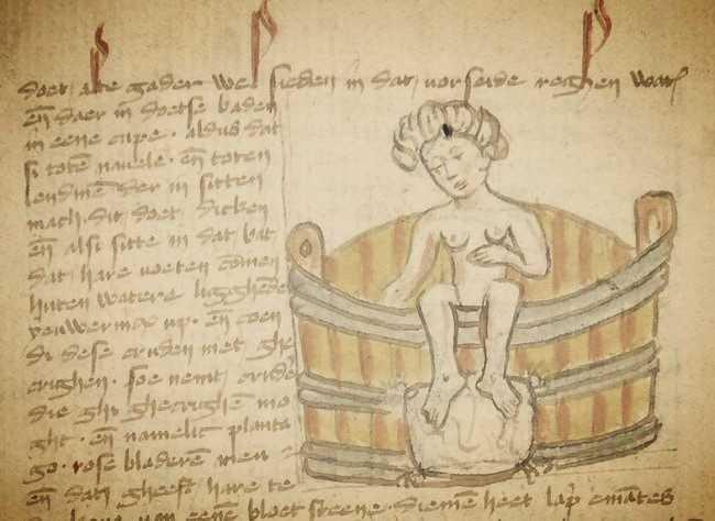 Donne e scienza nell'antichità: pagina del De passionibus mulierum ante in et post partum di Trotula de Ruggiero