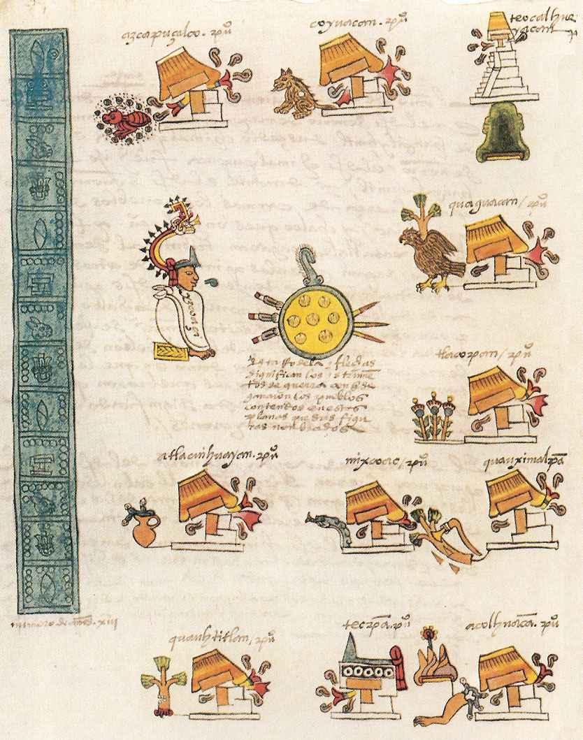 Codice Mendoza: La conquista di Itzcoatl