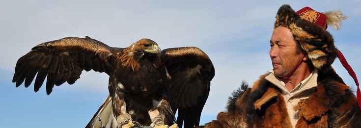 Caccia con l'aquila in Mongolia
