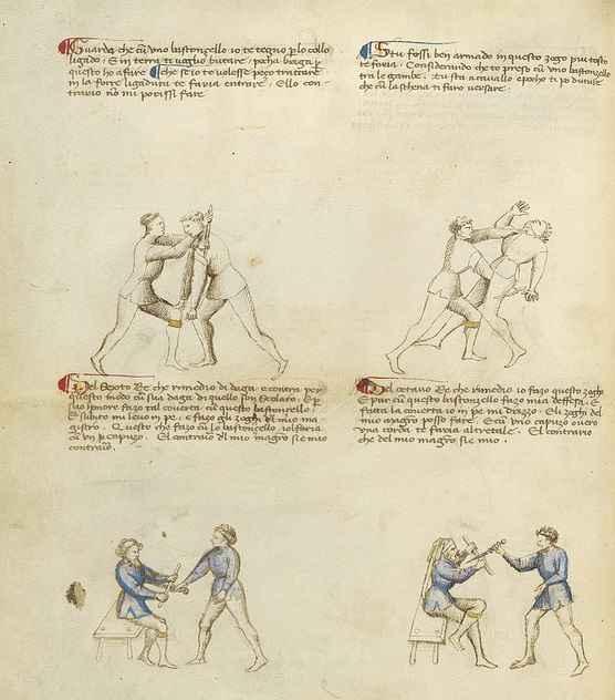 Una delle pagine del Flos duellatorum