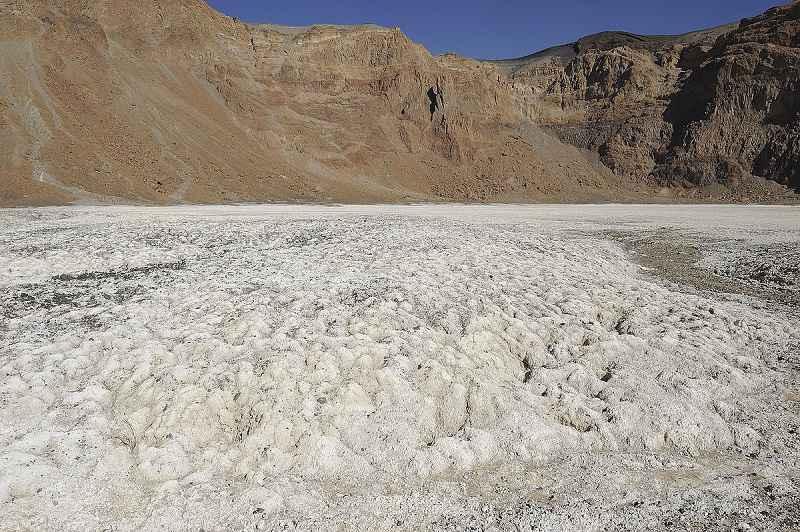 Deposito di natron nel cratere di Era Kohor nel Ciad