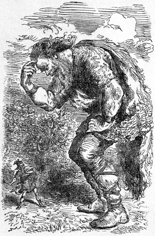 Giant Skrymir and Thor, di Louis Huard (1813-1874)