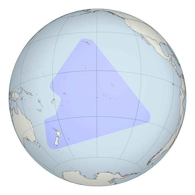 """Il """"triangolo polinesiano"""", una regione di Oceano Pacifico che i polinesiani attraversavano senza strumenti di navigazione"""