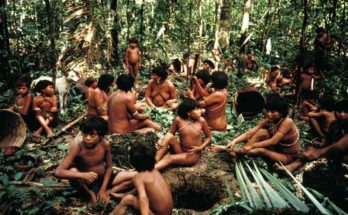Yanomami indigenous in the Amazon jungle