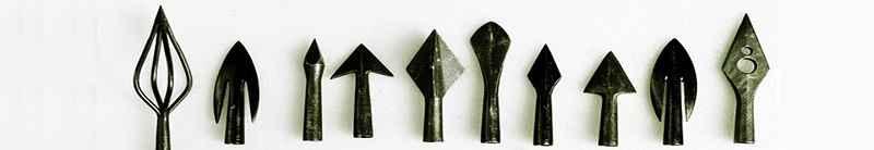 Diversi tipi di cuspide utilizzati nella storia