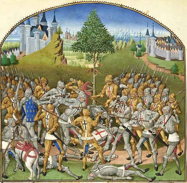 Le Combat des Trente (entre Ploërmel et Josselin), Pierre Le Baud (1480)
