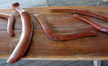 Boomerang e bastoni da lancio