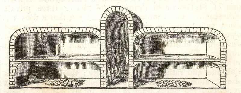 Disegno di un'antica incubatrice per uova egiziana