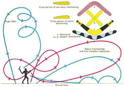 Traiettoria di volo del boomerang