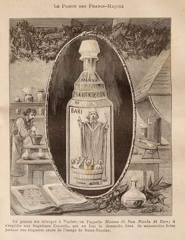 """Boccetta di """"Manna di San Nicola"""" ritratta da Pierre Méjanel."""