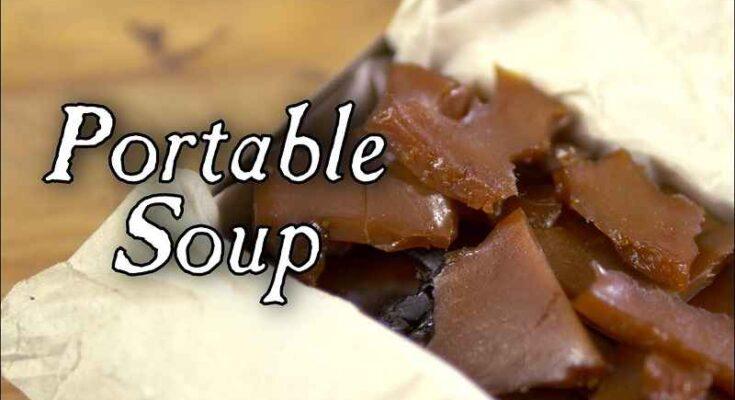 Zuppa tascabile degli esploratori del XVIII secolo