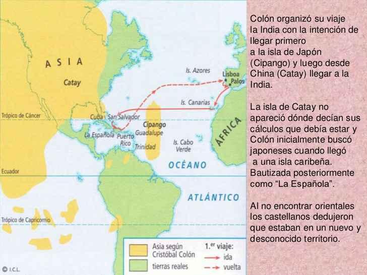 Posizione del Cipango (Giappone) secondo i navigatori dell'epoca