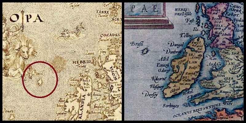 sizione dell'isola di Hy-Brasil secondo i navigatori dell'epoca